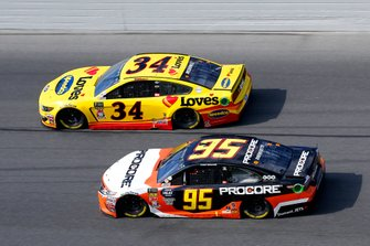 Matt DiBenedetto, Leavine Family Racing, Toyota Camry Procore, Michael McDowell, Front Row Motorsports, Ford Mustang Love's Travel Stops