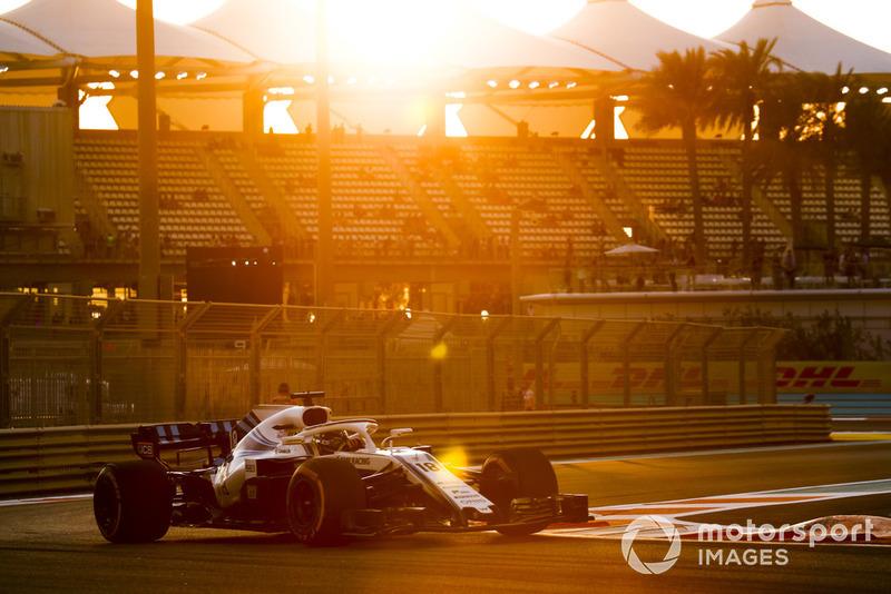 10º Williams empeoró un 1.082% respecto al mejor tiempo entre 2017 y 2018