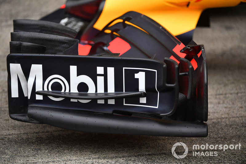 Front wing on Red Bull Racing RB14