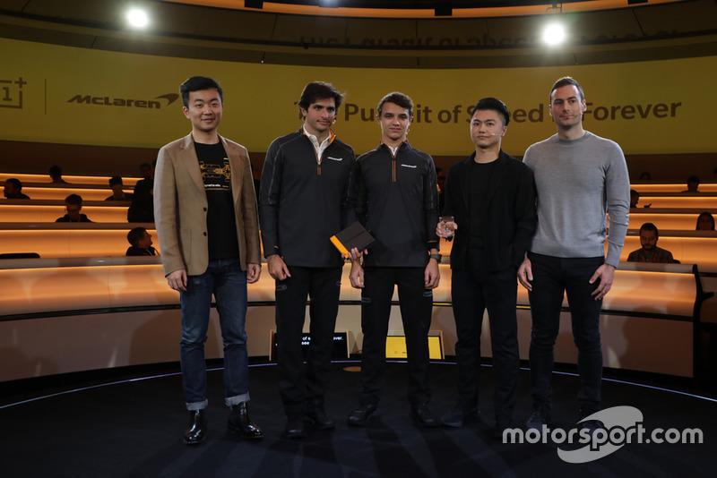 Carl Pei, Carlos Sainz Jr. Lando Norris Xi Zeng, Eric Gass