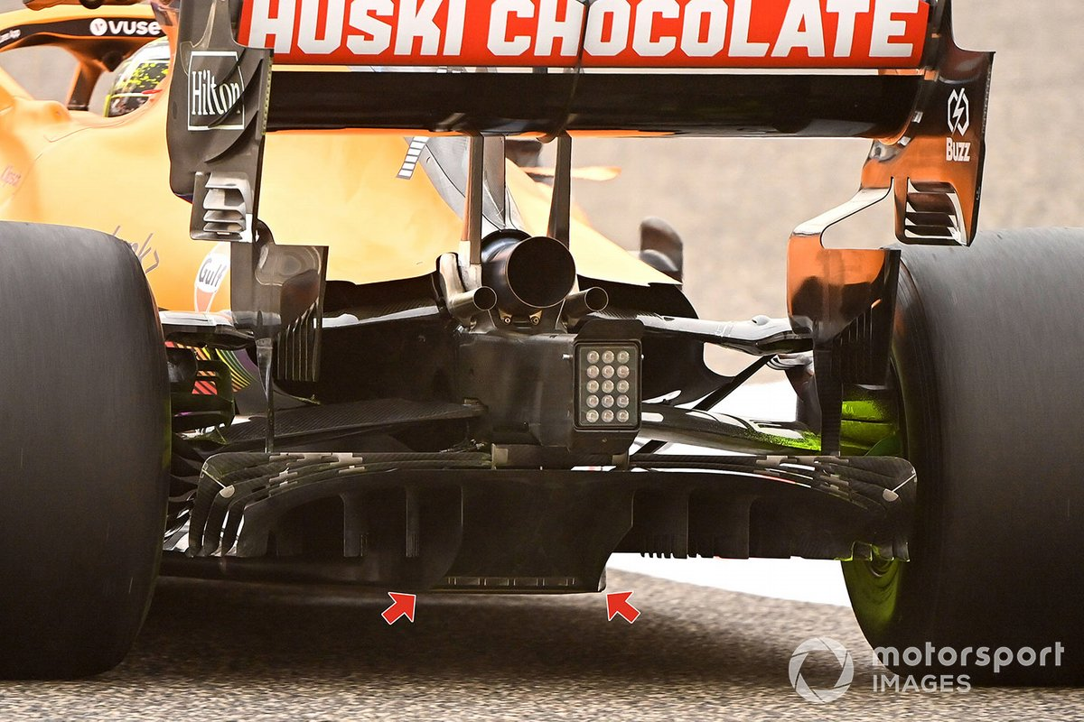 Detalle del difusor del McLaren MCL35M