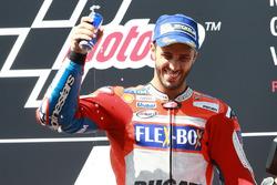 Podio:  ganador de la carrera, Andrea Dovizioso, Ducati Team