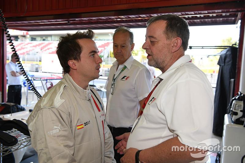 F1 Experiences 2-Seater passenger Frankie Muniz, Actor and Paul Stoddart