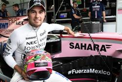 Sergio Pérez, Sahara Force India, #FuerzaMexico hashtag en apoyo a las víctimas del terremoto de México