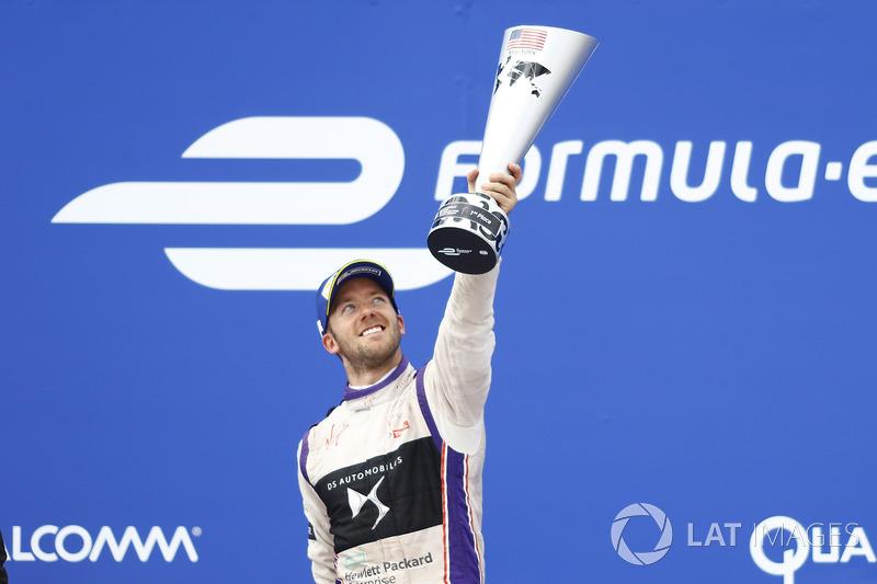 Sam Bird, DS Virgin Racing, que se celebra después de ganar la carrera