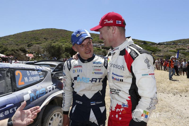 Ott Tänak, M-Sport, Ford Fiesta WRC and Jari-Matti Latvala, Toyota Yaris WRC, Toyota Racing
