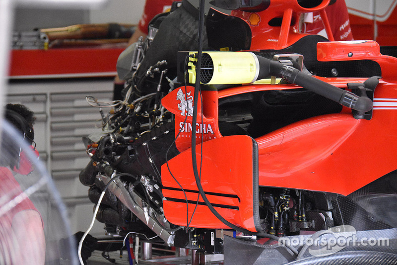 Ferrari, SF70H: Seitenpartie