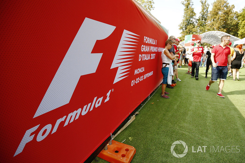The atmosphere in the F1 Fanzone