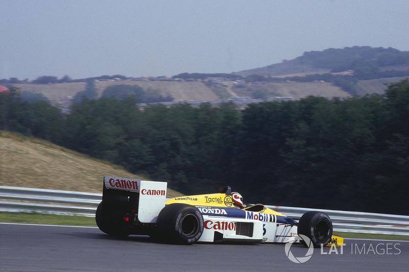 El GP de Hungría se estrenó en 1986, año de la foto. Nelson Piquet, con el Williams FW11 Honda, fue el primer vencedor