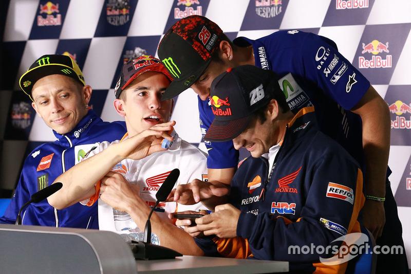 Valentino Rossi, Yamaha Factory Racing, Marc Marquez, Repsol Honda Team, Maverick Viñales, Yamaha Factory Racing, Dani Pedrosa, Repsol Honda Team
