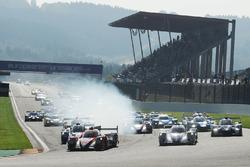 Start: #22 G-Drive Racing, Oreca 07 - Gibson: Memo Rojas, Ryo Hirakawa, Leo Roussel leads