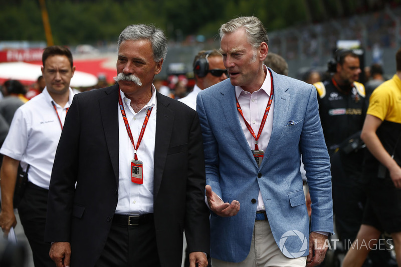 Chase Carey, Formel-1-Chef; Sean Bratches, Formel-1-Marketingchef