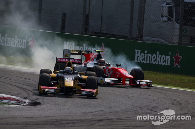 Antonio Giovinazzi, PREMA Racing precede Daniel de Jong, MP Motorsport