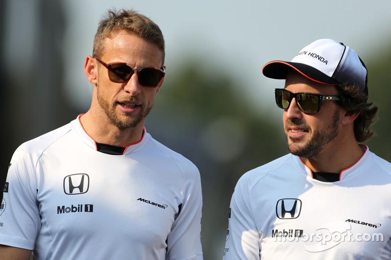 Jenson Button,, McLaren Honda; Fernando Alonso,, McLaren Honda