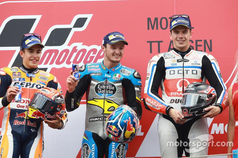 Podyum: 1. Jack Miller, Marc VDS Racing Honda, 2. Marc Marquez, Repsol Honda Team, 3. Scott Redding,