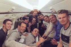 Paul di Resta; Alexander Wurz; Felipe Massa, Williams; Max Verstappen, Red Bull Racing; Jean-Eric Vergne; Esteban Gutierrez, Haas F1 Team; Jenson Button, McLaren-Honda; Nico Rosberg, Mercedes; David Coulthard; Nico Hülkenberg, Force India F1 Team