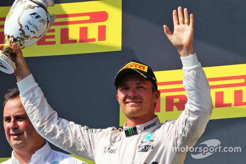 Podium: second place Nico Rosberg, Mercedes AMG F1 Team