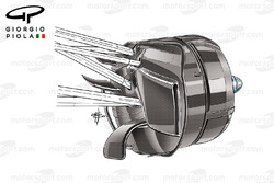 Williams FW38 front brake duct, Mexican GP