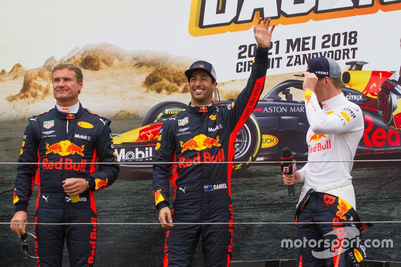 Max Verstappen, Daniel Ricciardo ve David Coulthard