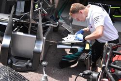 Mercedes-AMG F1 W09, dettaglio della pancia