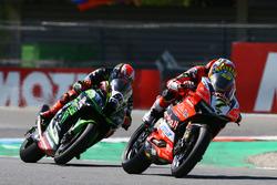 Chaz Davies, Aruba.it Racing-Ducati SBK Team, Tom Sykes, Kawasaki Racing