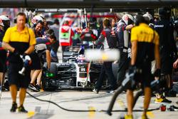 Romain Grosjean, Haas F1 Team VF-17, in the pits