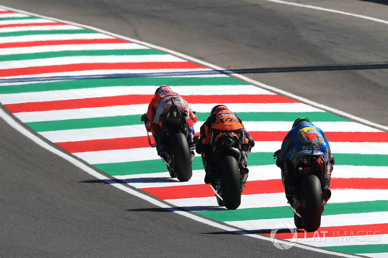 Andrea Dovizioso, Ducati Team, Bradley Smith, Red Bull KTM Factory Racing, Franco Morbidelli, Estrella Galicia 0,0 Marc VDS