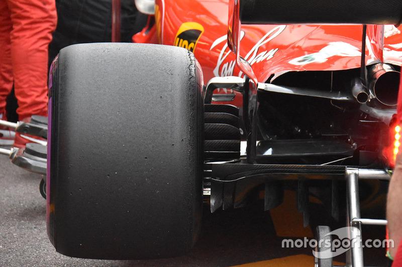 Detalle trasero de del Ferrari SF71H