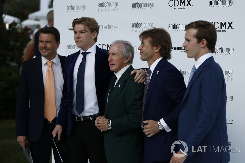 Jackie Stewart, with sons Mark Stewart, and Paul Stewart and family
