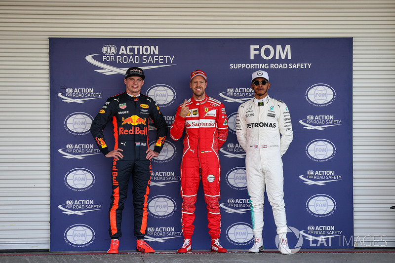 Pole, Sebastian Vettel, Ferrari, Max Verstappen, Red Bull Racing, Lewis Hamilton, Mercedes AMG F3