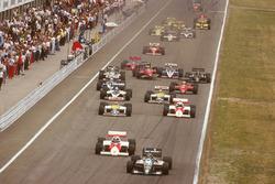 Start zum GP Deutschland 1986 in Hockenheim