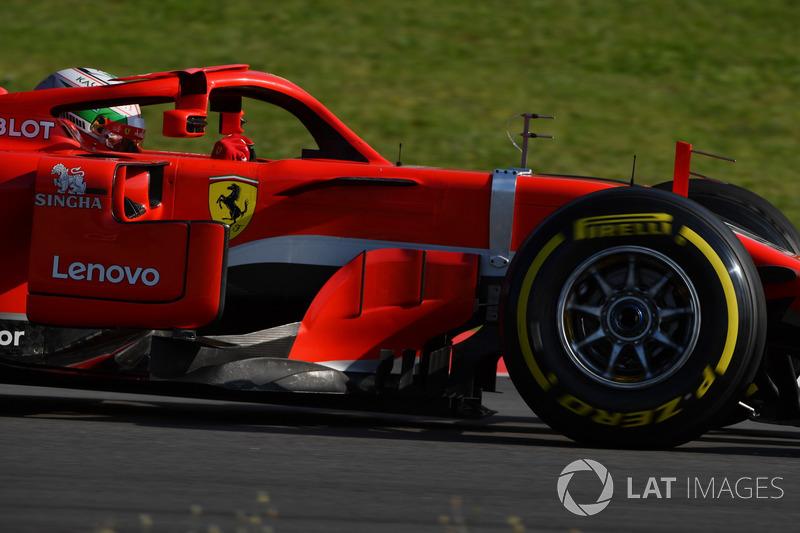 Antonio Giovinazzi, Ferrari SF71H, con sensori aerodinamici
