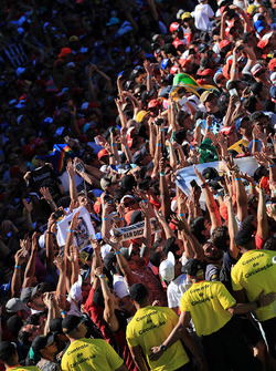 Fans and atmosphere at the podium celebrations