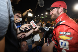 Dale Earnhardt Jr., Hendrick Motorsports Chevrolet has a party with his crew members