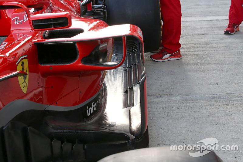 Detalle lateral del Ferrari SF71H