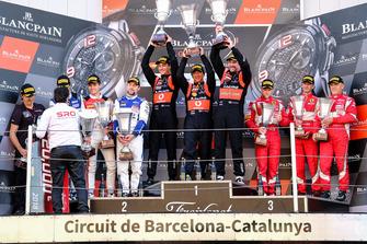 Pro-Am class podium: winners Fabrizio Crestani, Miguel Ramos, Giuseppe Cipriani, Daiko Lazarus Racing
