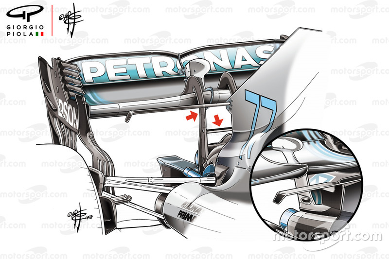Детали заднего крыла Mercedes F1 W09