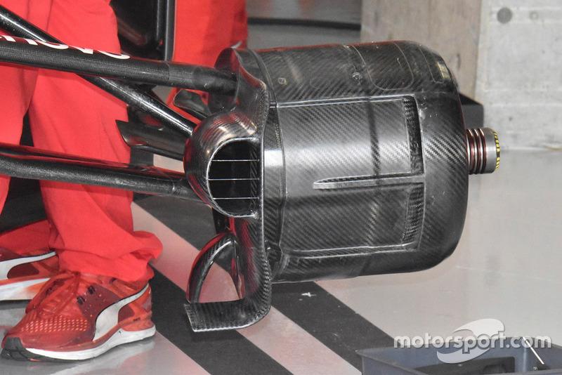 Detail pipa pendingin rem Ferrari SF71H