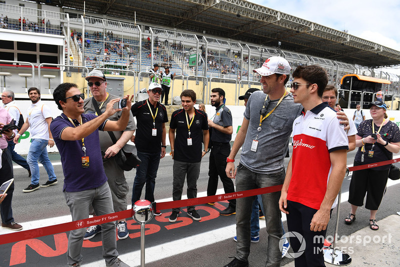 Charles Leclerc, Sauber with fans