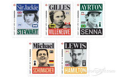 Canadese Formule 1-postzegels