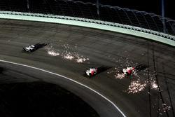 Marco Andretti, Helio Castroneves and Ryan Briscoe