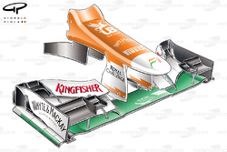 Force India VJM05 nose (FOM camera housings moved from hammerhead position)