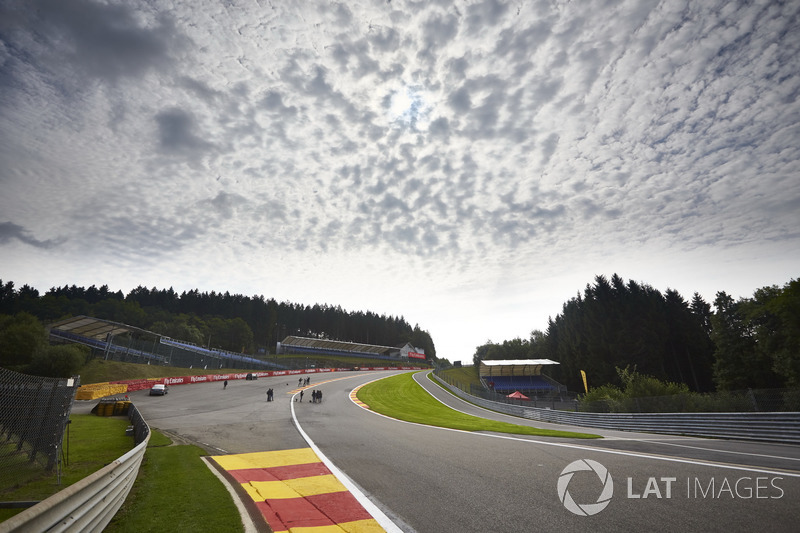 A scenic view of Eau Rouge