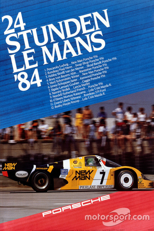 Poster Porsche 24h de Le Mans 1984
