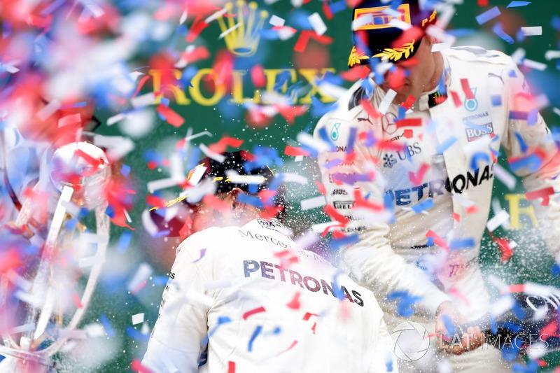 Гоночний інженер Mercedes AMG F1 Пітер Боннінгтон, Льюіс Хемілтон, Mercedes AMG F1, Валттері Боттас, Mercedes AMG F1