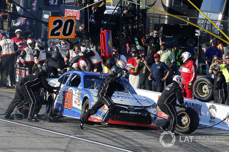 Ryan Preece, Joe Gibbs Racing Toyota pit stop