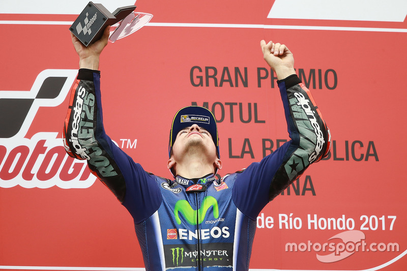 Podio: Maverick Viñales, Yamaha Factory Racing