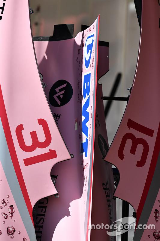Sahara Force India VJM10 bodywork detail