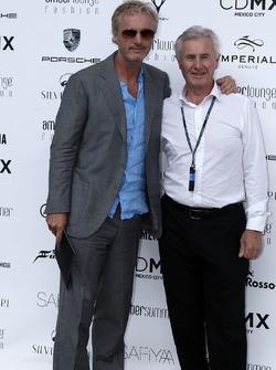 Eddie Irvine, con il padre Edmund Irvine