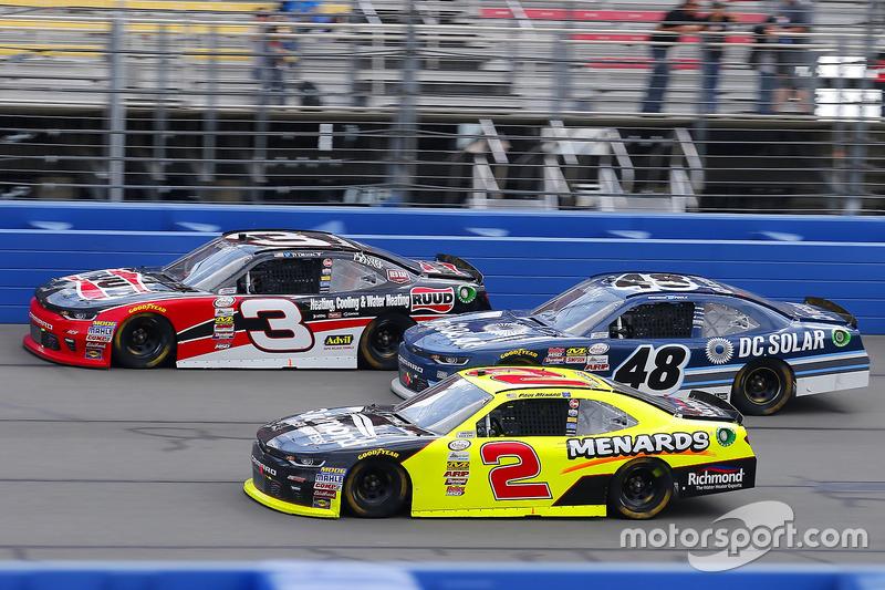 Paul Menard, Richard Childress Racing, Chevrolet; Brennan Poole, Chip Ganassi Racing, Chevrolet; Ty